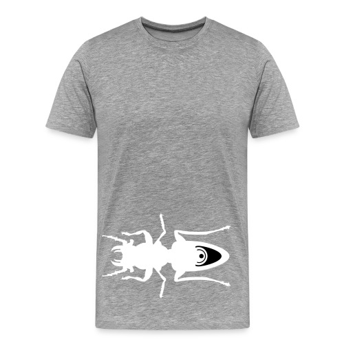 Meta4 Belly Bug White - Men's Premium T-Shirt