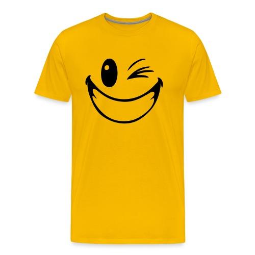 ''Knipoog'' T-shirt mannen - Mannen Premium T-shirt