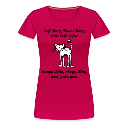 Dame t-skjorte - Soft Kitty - Premium T-skjorte for kvinner