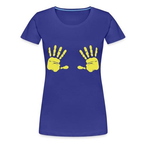 mains jaunes - T-shirt Premium Femme