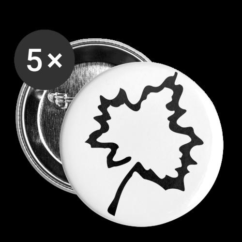 Anstecker Herbstblatt - Buttons groß 56 mm