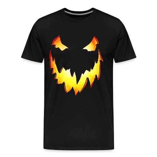 Splatterific Zombie Wear - Kürbis Gesicht - Halloween Edition - Männer Premium T-Shirt