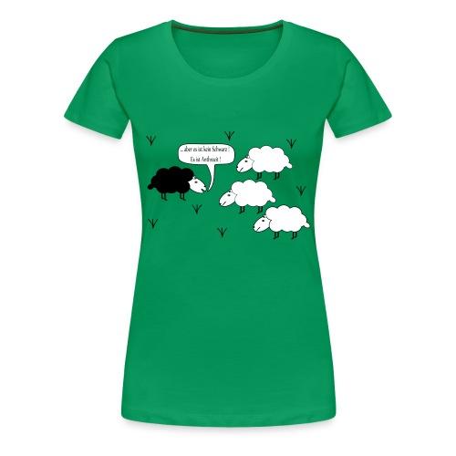 Schwarzes Scharf - Frauen Premium T-Shirt