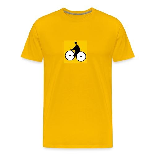 LOGO Fatman's Jaune - T-shirt Premium Homme