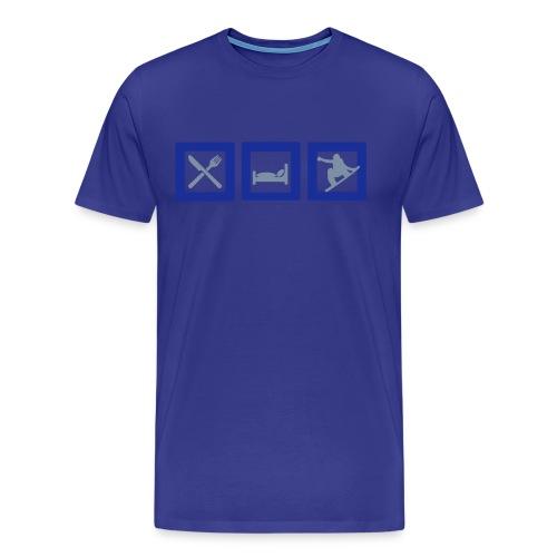 Eat, Sleep, Snowboard - Snowboarding t-shirt - Men's Premium T-Shirt
