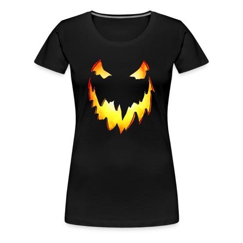 Splatterific Zombie Wear - Kürbis Gesicht - Halloween Edition - Frauen Premium T-Shirt