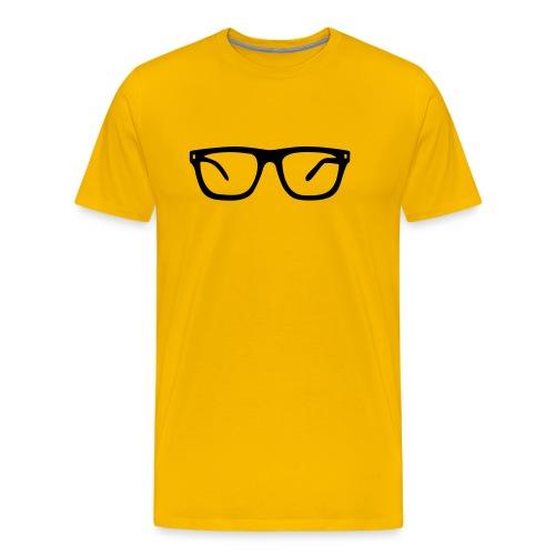 Nerd bril shirt - Mannen Premium T-shirt