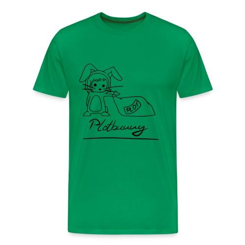Motiv: Plotbunny 1 | Druck: schwarz | verschiedene Farben - Männer Premium T-Shirt