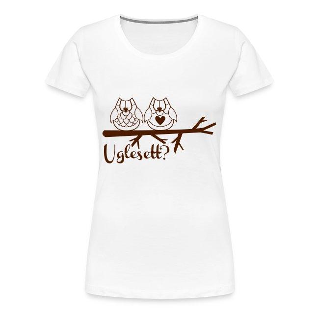 Uglesett dame t-skjorte hvit
