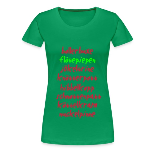 Bollerbuxe - Frauen Premium T-Shirt