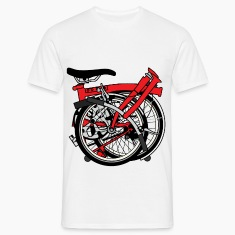 Brompton Bicycle ready to be transported. T-Shirts