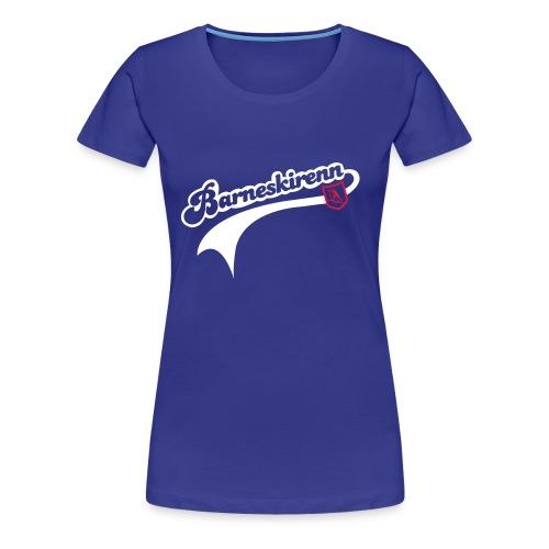 Barneskirenn dame t-skjorte  - Premium T-skjorte for kvinner