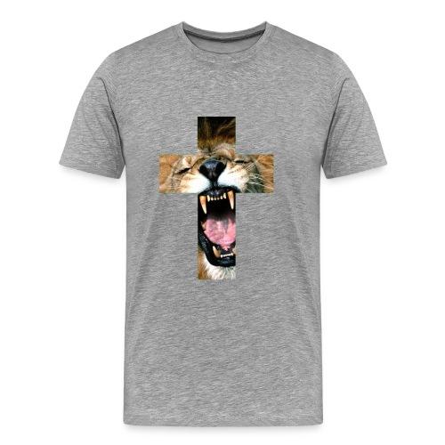 Lion Cross - Mannen Premium T-shirt