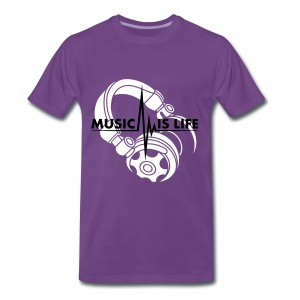 Music Is Life - Mannen Premium T-shirt