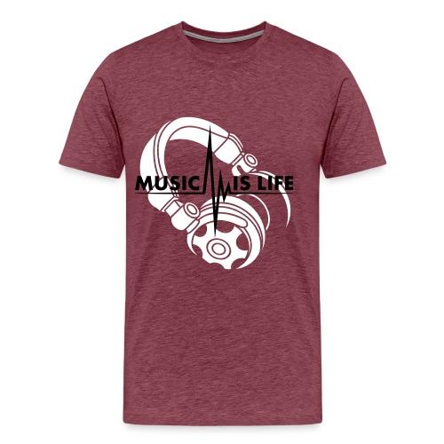 Music Is Life - Mannen Premium T-shirt