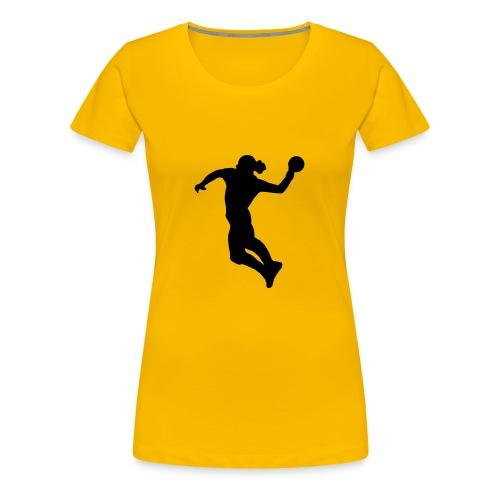 Yellow handball t-shirt women - Women's Premium T-Shirt