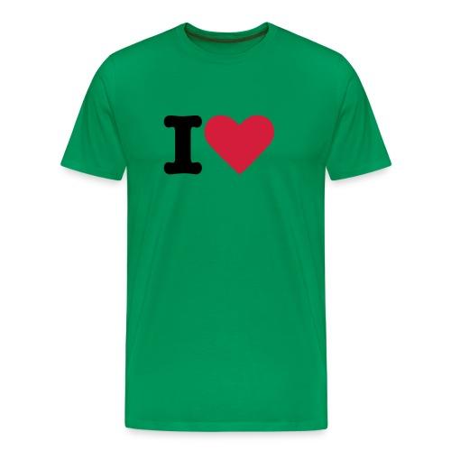 Mens I Love 3 - Men's Premium T-Shirt