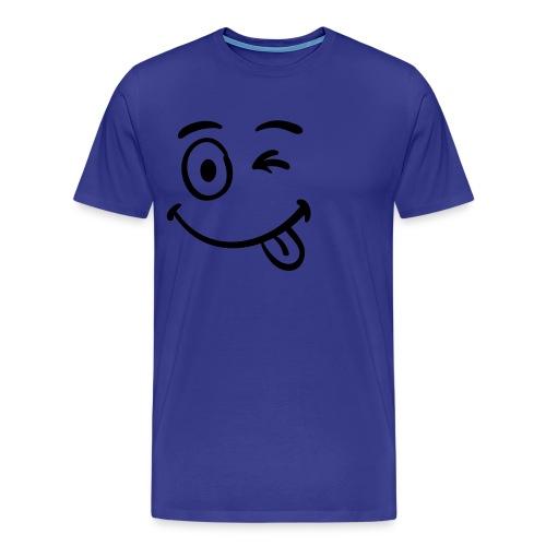 Smiley T-Shirt - Wink - Men's Premium T-Shirt