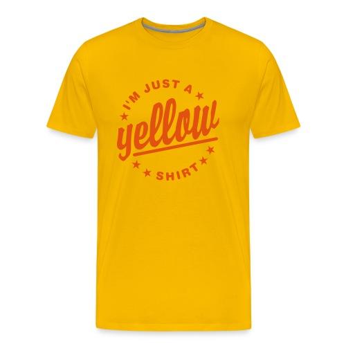 JUST A YELLOW SHIRT - Männer Premium T-Shirt