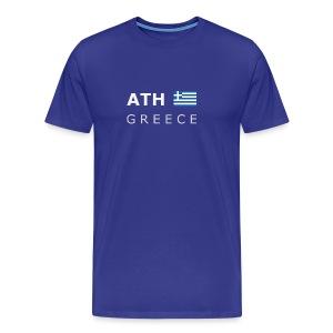 Classic T-Shirt ATH GREECE white-lettered - Men's Premium T-Shirt