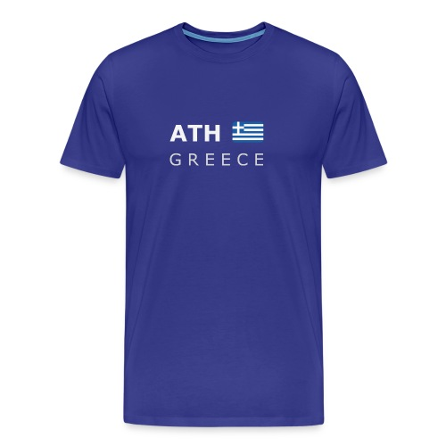 Classic T-Shirt ATH GREECE white-lettered - Men's Premium T-Shirt