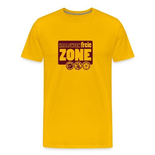 Männer Premium T-Shirt - Nichts Süßes und nichts Saures! Ich bin bekennender Halloweenmuffel. Wer das nicht jedem nervigen Wuchtvampier von nebenan erklären will, der kann sich mit diesem T-Shirt behelfen. Viel Erfolg und einen schönen Reformationstag.