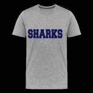 Old School Football Shirt (grau) - Männer Premium T-Shirt