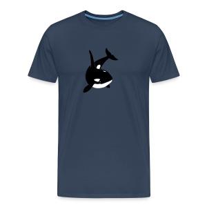 tier t-shirt orca orka wal killer whale delphin dolphin delfin shark hai - Männer Premium T-Shirt