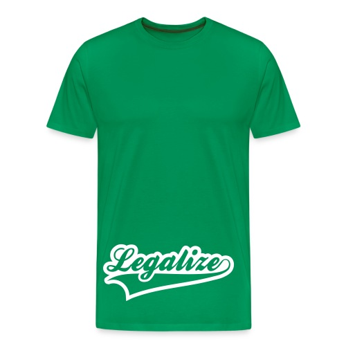Legalise White T - Men's Premium T-Shirt
