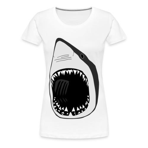 tier t-shirt weisse hai wal shark jaws zähne monster tauchen taucher fisch - Frauen Premium T-Shirt