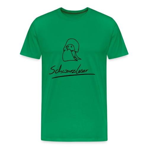 Motiv: Schwarzleser (neu) | Druck: schwarz | verschiedene Farben - Männer Premium T-Shirt