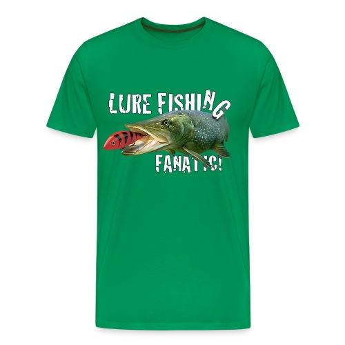 Adults 'Lure Fishing Fanatic' Tee shirt - Men's Premium T-Shirt