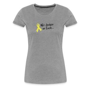 Gelbe Schleife Shirt - Frauen Premium T-Shirt