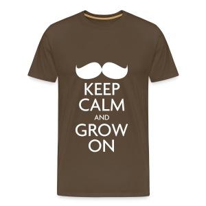 Keep Calm and Grow On — Movember - Men's Premium T-Shirt