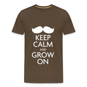 Keep Calm and Grow On — Movember - Men's Premium T-Shirt