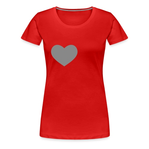 rood shirt met glitter hart - Vrouwen Premium T-shirt