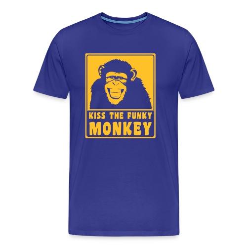 KISS THE FUNKY MONKEY - Männer Premium T-Shirt
