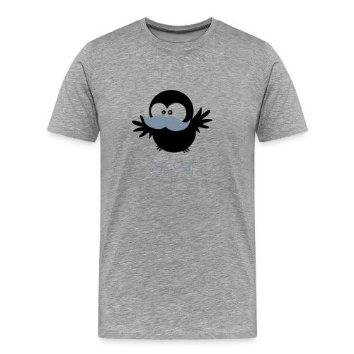 Eine Eule // Mustache // Sir Owl - Männer Premium T-Shirt