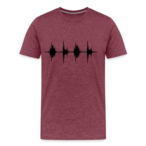 Sound Waves T-Shirt - Men's Premium T-Shirt