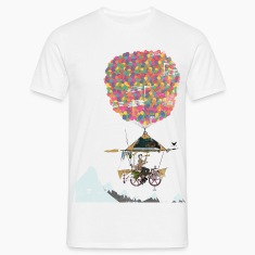 Flying Bike.pngRiding A Bicycle Through The Mounta T-Shirts