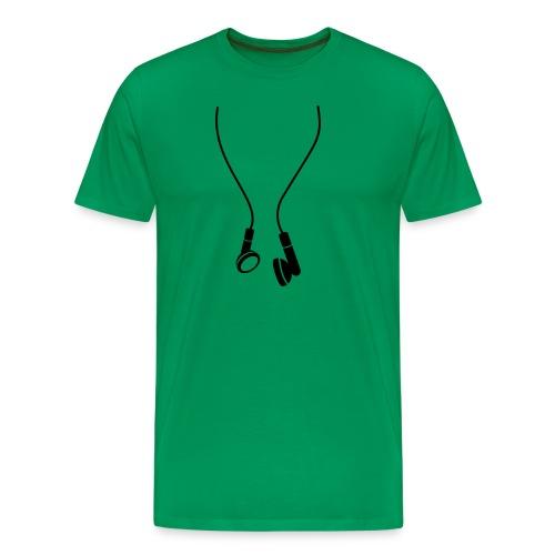 Oordopjes Mannenshirt - Mannen Premium T-shirt