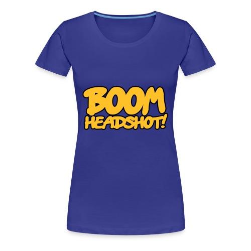 WOMEN'S BOOM HEADSHOT T-SHIRT - Women's Premium T-Shirt