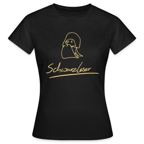 Motiv: Schwarzleser (neu) | Druck: beige | verschiedene Farben - Frauen T-Shirt