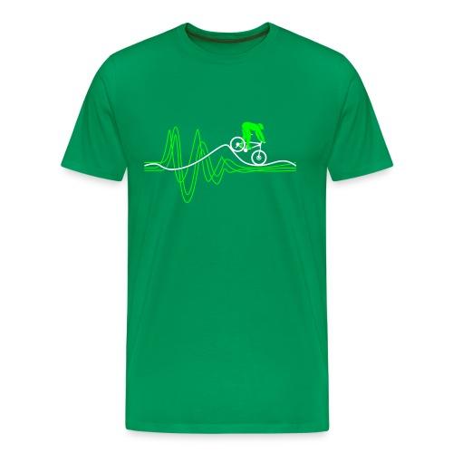 Heartbeat Green T-shirt - Men's Premium T-Shirt