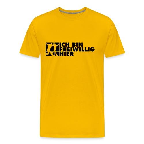 Männer-T-Shirt (farbig) 2-seitiger, schwarzer Druck - Männer Premium T-Shirt