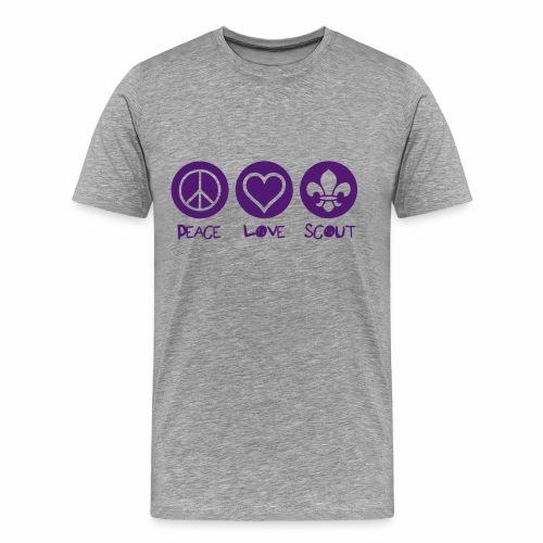 Peace Love Scout (Color) - T-shirt Premium Homme