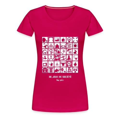 T-shirt-jeu 36·jeux·de·société - T-shirt Premium Femme