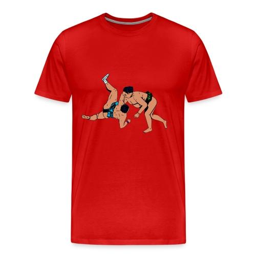 heren T-shirts met sumoworstelaars - Mannen Premium T-shirt