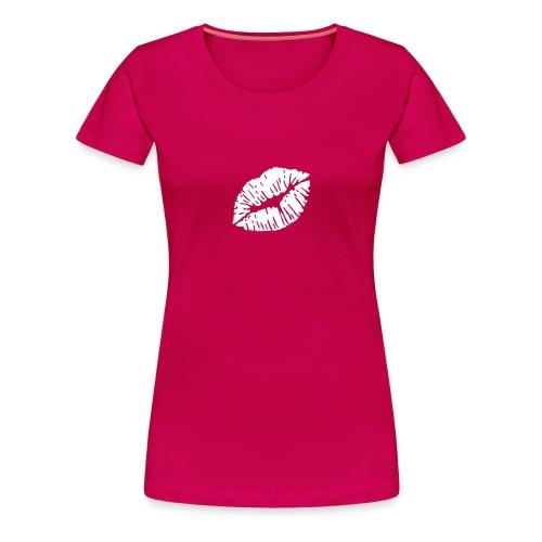 Ladies White lips - Women's Premium T-Shirt