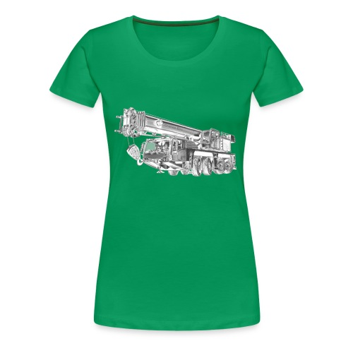 Mobile Crane 4-axle - Women's Premium T-Shirt